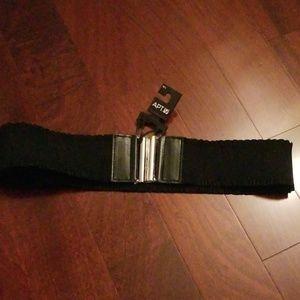 Apt. 9 Accessories - Apt. 9 Black Ruffle Belt with Metal Closure
